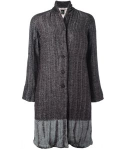 SUZUSAN | Tie-Dye Herringbone Coat Medium Cotton/Linen/Flax/Wool