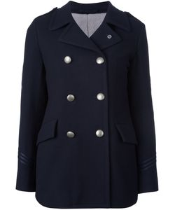 Lardini | Double Breasted Coat 38 Polyester/Acetate/Cupro/Wool