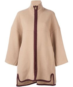 Chloe | Chloé Contrast Zip Coat 34 Cotton/Polyamide/Virgin Wool