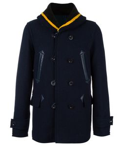 Sacai | Fur Collar Peacoat 2 Sheep Skin/Shearling/Nylon/Cupro/Wool