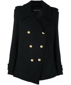 Alexandre Vauthier | Double Breasted Coat Small Polyamide/Polyester/Viscose/Wool