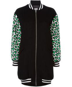 Jeremy Scott | Leopard Sleeves Bomber Jacket 40 Polyester/Wool/Polyacrylic