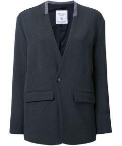 FAD THREE | Flap Pocket Blazer Small Polyester/Polyurethane/Cupro/Wool