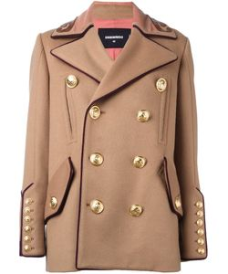 Dsquared2 | Military Double Breasted Coat 38 Polyamide/Polyester/Watersnake Skin