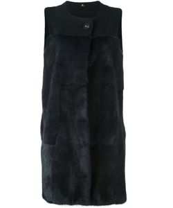 NUMEROOTTO   Sleeveless Jacket 42 Mink Fur/Cashmere/Wool