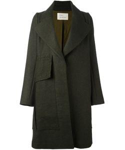 Quetsche   Oversized Lapel Coat 34 Linen/Flax/Cashmere