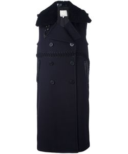 3.1 Phillip Lim | Sleeveless Shearling Collar Coat 2