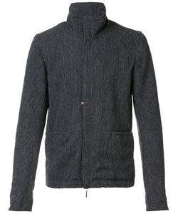 TAICHI MURAKAMI | Roll Neck Zipped Jacket 7 Ramie/Polyester/Wool