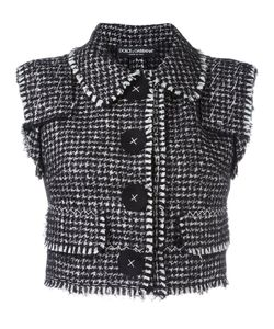 Dolce & Gabbana | Bouclé Gilet 42 Silk/Cotton/Polyamide/Virgin Wool