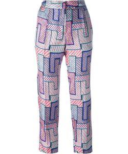 MSGM | Geometric Print Trousers 40 Silk/Polyester