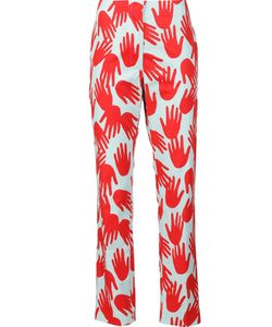 Sonia Rykiel | Hand Print Trousers 40 Cotton