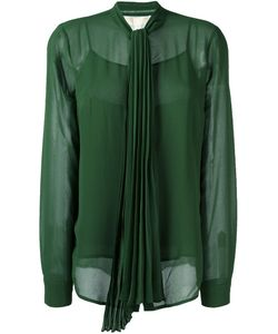 Michael Michael Kors | Pleated Bow Blouse Large Polyester
