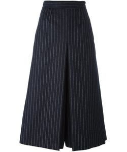 Saint Laurent | Pinstripe Skirt Trousers 38 Silk/Wool