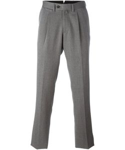 BORRELLI | Pleated Detailing Tailored Trousers 54 Cotton/Polyester/Virgin Wool