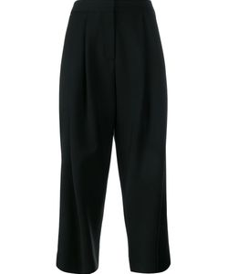 Adam Lippes | Cropped Wide Leg Trousers 6 Silk/Cotton/Polyamide/Wool