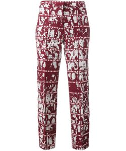 Jour/Né | Film Print Trousers 38 Acrylic/Polyester/Wool