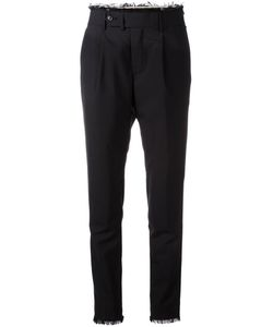 MSGM | Raw Edge Tapered Trousers 52 Cotton/Acetate/Viscose/Virgin Wool