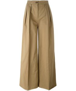 Moncler | Pleated Wide Leg Trousers 38 Cotton