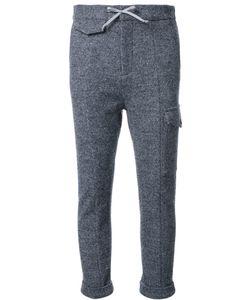 FAD THREE | Drawstring Cropped Track Pants Medium Wool