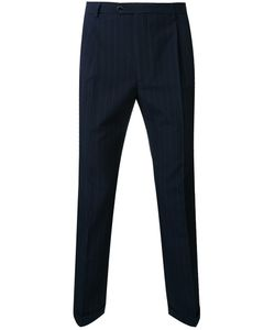 Raf Simons | Pinstriped Slim Fit Trousers 46 Virgin