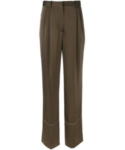 Sonia Rykiel | Straight Leg Trousers 40 Polyester/Triacetate