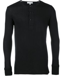 MERZ B. SCHWANEN | Long-Sleeved Henley T-Shirt Small Cotton/Rayon