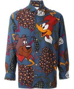 JC DE CASTELBAJAC VINTAGE | Woody Woodpecker Print Shirt Medium