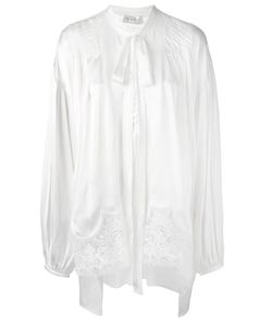 Faith Connexion | Lace Detail Bow Neck Blouse Xs