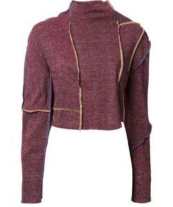 ECKHAUS LATTA | Paneled Longsleeved Crop Top Medium Cotton/Polyester