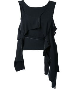 ECKHAUS LATTA | Asymmetric Deconstructed Top Silk