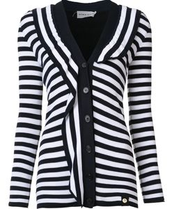 Sonia Rykiel | Striped Cardigan Small Cotton/Viscose