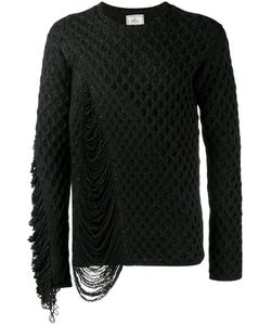 MIHARA YASUHIRO | Miharayasuhiro Frayed Textured Knit Jumper 48 Acrylic/Wool