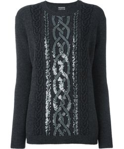 Markus Lupfer | Sequined Cable Jumper Xs Polyester/Wool