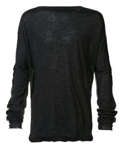TAICHI MURAKAMI | Contrast Back Longsleeved T-Shirt 7 Wool