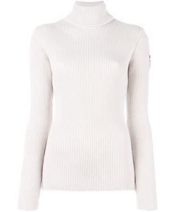 ROSSIGNOL   Ribbed Roll Neck Jumper Medium Virgin Wool