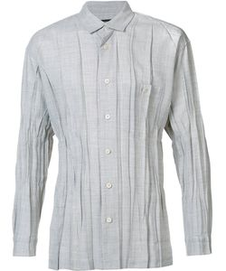 Issey Miyake | Men Pleated Shirt 4 Polyester/Wool