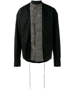 Haider Ackermann | Sequinned Panel Shirt Xs Cotton/Acrylic/Nylon/Virgin Wool