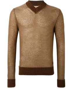 AL DUCA D'AOSTA | 1902 V-Neck Sweater Large Acrylic/Polyamide/Mohair/Wool