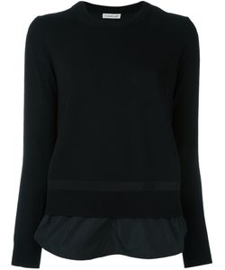 Moncler | Layered Effect Knit Sweater Small Polyester/Virgin Wool