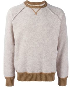 AL DUCA D'AOSTA   1902 Contrast Trim Knitted Sweatshirt Medium