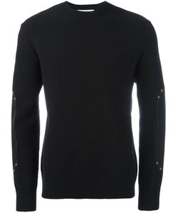 Givenchy | Leather Panel Sweater Medium Calf Leather/Wool/Zamac