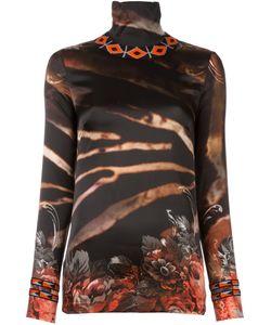 Wunderkind | Zebra Print Top Xs Silk/Spandex/Elastane/Virgin Wool