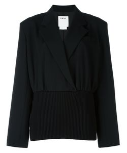 Donna Karan | Rear Print Top Small Polyester/Wool/Merino