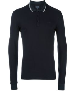 ARMANI JEANS | Longsleeved Polo Shirt Small Cotton/Spandex/Elastane