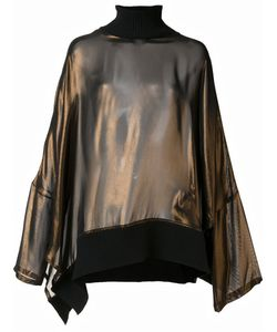 Ann Demeulemeester | High Neck Blouse 40 Rayon