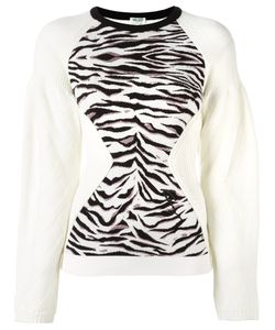 Kenzo | Tiger Stripes Jumper Small Polyester/Cupro/Viscose/Metallized Polyester