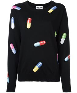 Moschino | Pill Print Jumper Xxs Virgin Wool