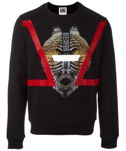 Les Hommes Urban | Mask Print Sweatshirt Medium Cotton