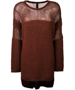 Ilaria Nistri | Crew Neck Long Pullover Large Silk/Polyamide/Mohair/Virgin