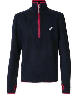 Michael Bastian | Zipped Collar Fleece Jumper Large Acrylic/Polyester/Wool
